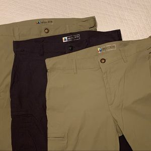 Lot of Three Quick Dry Pants 36x32